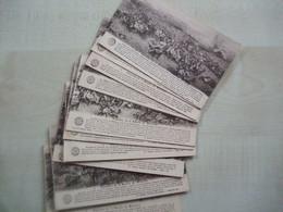 Lot De 12 Cartes Anciennes  PANORAMA DE LA BATAILLE DE WATERLOO - Vari