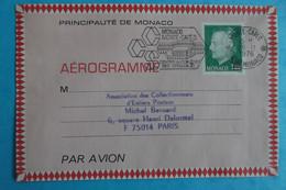 AEROGRAMME , De PRINCIPAUTE De MONACO  , 1,40 , Oblitéré , X,en Bon état - 1960-.... Neufs