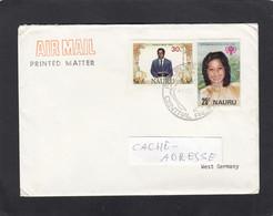 LETTRE DE NAURU AVEC CONTENU POUR L'ALLEMAGNE.1988. - Nauru