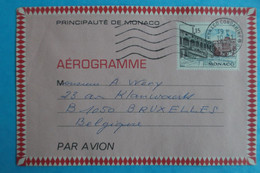 AEROGRAMME , De PRINCIPAUTE De MONACO  , 1,15 , Oblitéré, ,en Bon état - 1960-.... Neufs