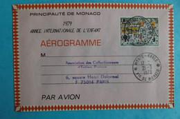 AEROGRAMME , De PRINCIPAUTE De MONACO  , 1,80 ,Oblitéré ,en Bon état - 1960-.... Neufs