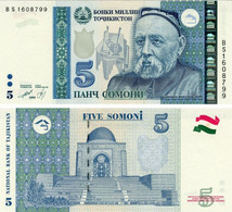 Tajikistan 5 Somoni 1999 (2013) UNC (P23) - Tajikistan