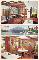 Hotel Alpina Lucerne Switzerland Restaurant Area Postcard - Non Classificati