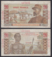 FRANZÖSISCH GUIANA - FRENCH GUIANA 20 Francs Banknote (1947/49) Pick 21a F (4) - Andere - Amerika