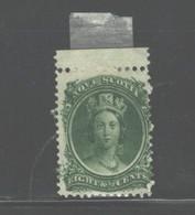 CANADA - NOVA SCOTIA  1860 - 1863 #11 MH  REMANANT  GUM - Unused Stamps