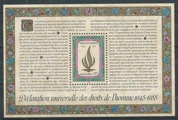 Nations Unies Genève Bloc-feuillet YT N°5 Déclaration Universelle Des Droits De L'homme Neuf ** - Blocks & Kleinbögen