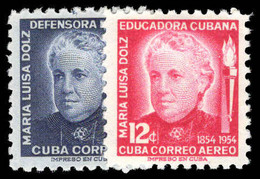 Cuba 1954 Birth Centenary Of Maria Dolz Unounted Mint. - Unused Stamps