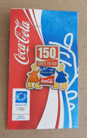 Athens 2004 Olympic Games, Coca Cola Sponsor, 150 Days To Go Pin With Mascots - Jeux Olympiques