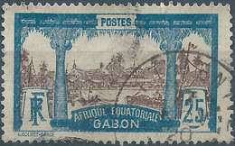 Gabon,France(old Colonies And Protectorates)1910 Libreville,25C Oblitérée - Gebraucht