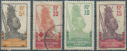 "Gabon,France(old Colonies And Protectorates)1910 Warrior - Inscription ""EQUATORIAL AFRIQUE GABON"",Mint Hinged & Oblitéré - Gebraucht"