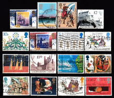 ! GREAT BRITAIN - 16 Mix Used Stamps (k4979) - Collections