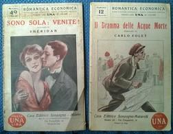 2 Vol Romantica Economica Sonzogno: Sono Sola. Venite! -Il Dramma Delle Acque -L - Libri Antichi