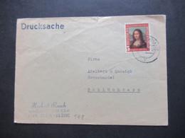 BRD 1952 Mona Lisa Nr.148 EF überfrankierte Drucksache Handelsvertreter CDH Sinn - Dillkreis Nach Schlüchtern - Covers & Documents