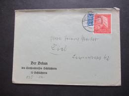 BRD 1953 Nr.175 Wohlfahrt Helfer Der Menschheit Umschlag Der Dekan Des Kirchenkreises Schlüchtern - Covers & Documents