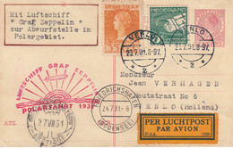 Zeppelin - 1931 - Pays Bas - Carte Postal Du 20/07/1931 - Vers Venlo (Hollande) - Zeppelin