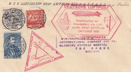 Zeppelin - 1933 - Pays Bas - Lettre Du 12/10/1933 - Vers USA - Zeppelin