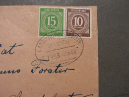 Bahnpost Landshut - Eisenstein 1949  Aus Niederreichbach - Covers & Documents