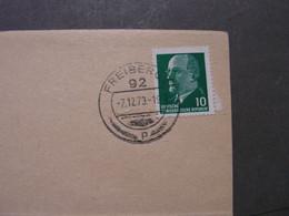 Freiberg 92 , Karte Nach Sohra 1973 Ulbricht EF - Briefe U. Dokumente