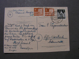 Beerfelden Odenwald Karte Nach Affoltterbach , 1948 - Covers & Documents