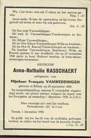 Anna Rasschaert :  Rillaar 1888 - 1958 - Andachtsbilder