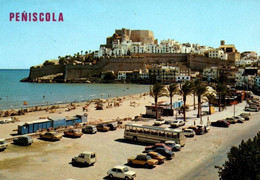 CPM - PENISCOLA - Vues Panoramiques De La Plage (voitures) ... LOT 3 CP à Saisir - Castellón