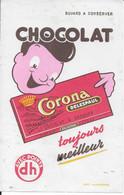 PBUVARD  NEUF ANNEES 50 's   CHOCOLAT  DELESPAUL HAVEZ CORONA - Chocolat