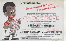 PBUVARD  NEUF ANNEES 50 's    CHOCOLAT CHOCOREVE MONDICOURT PAS DE CALAIS COEURS VAILLANTS FRIPOUNET ET MARISETTE - Chocolat