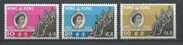 232 HONG KONG 1962 - Yvert 191/93 - Elizabeth II Centenaire Du Timbre - Neuf ** (MNH) Sans Trace De Charniere - Unused Stamps
