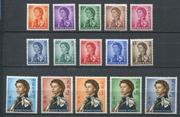 232 HONG KONG 1962/67 - Yvert 194/208 - Elizabeth II Serie Courante Complete - Neuf ** (MNH) Sans Trace De Charniere - Unused Stamps