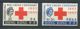 232 HONG KONG 1963 - Yvert 210/11 - Croix Rouge Internationale - Neuf ** (MNH) Sans Trace De Charniere - Unused Stamps