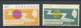 232 HONG KONG 1965 - Yvert 212/13 - Telecommunication - Neuf ** (MNH) Sans Trace De Charniere - Unused Stamps