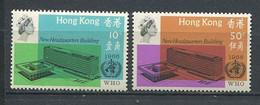 232 HONG KONG 1966 - Yvert 220/21 - Siege Sante A Geneve  - Neuf ** (MNH) Sans Trace De Charniere - Unused Stamps