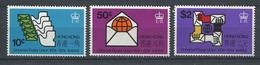 232 HONG KONG 1974 - Yvert 290/92 - U P U Embleme - Neuf ** (MNH) Sans Trace De Charniere - Unused Stamps