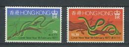 232 HONG KONG 1977 - Yvert 323/24 - Annee Du Serpent - Neuf ** (MNH) Sans Trace De Charniere - Unused Stamps