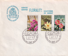 MiNr. 1580 - 1582 Belgien1970 Genter Blumenschau - Rose
