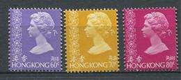241 HONG KONG 1977/78 - Yvert 328/30 Seulement Petits Formats - Elizabeth II - Neuf ** (MNH) Sans Trace De Charniere - Unused Stamps