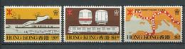 241 HONG KONG 1979 - Yvert 351/53 - Station Ferre Plan Du Reseau Et Motrice - Neuf ** (MNH) Sans Trace De Charniere - Unused Stamps