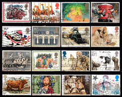 ! GREAT BRITAIN - 16 Mix Used Stamps (k4557) - Collections