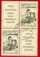 POLAND 1962 FIP Day Two In Block Used.  Michel 1337 - Used Stamps