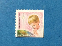 CHIUDILETTERA VIGNETTA ETICHETTA ERINNOFILO BOLLINO CINDERELLA HOLY CHILDHOOD HAPPY CHRISTMAS - Erinnofilia