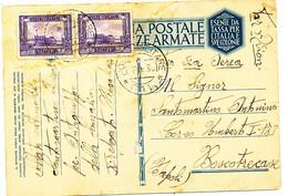 1936 GUERRA D'AFRICA POSTA MILIATRE O 1 L  SU FRANCHIGIA MILTARE VIA AEREA 2X 0,50 DA SAGAG IN CHIARO - Somalia