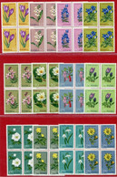 POLAND 1962 Protected Plants Blocks Of 4 MNH / **.  Michel 1325-36 - Unused Stamps