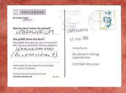 Karte, Droste-Huelshoff, MS Landeshauptstadt Saarbruecken Briefzentrum 66, Pirmasens Nach Muenchen 2003 (5311) - Briefe U. Dokumente