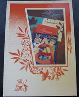 USSR Soviet Russia Unused Postcard Happy Birthday Clean Saifi ABC-book Notebooks 1984 - Primero Día De Escuela