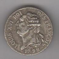 JETON  BP  LOUIS XVI - ECU DE 6 LIVRES 1792 AN 4 - Professionals / Firms