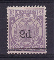 Transvaal: 1887   Flags - Surcharge    SG194   2d  On 3d   MH - Transvaal (1870-1909)