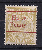 Transvaal: 1893   Flags - Surcharge    SG195    ½d On 2d   [red Overprint][Type A OVPT]   MH - Transvaal (1870-1909)