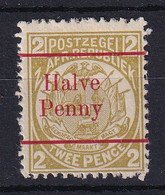 Transvaal: 1893   Flags - Surcharge    SG195b    ½d On 2d   [red Overprint][Type B OVPT]   MH - Transvaal (1870-1909)