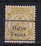 Transvaal: 1893   Flags - Surcharge    SG196    ½d On 2d  [black Overprint][Type A OVPT]   MH - Transvaal (1870-1909)