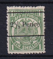 Transvaal: 1893   Flags - Surcharge    SG198    2½d On 1/-  [Type A OVPT]   MH - Transvaal (1870-1909)